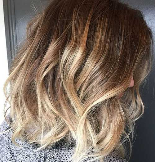 Beachy Blonde Highlights on Short Ombre Hair