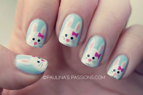 20 Easter Bunny Nail Art Designs Ideas Trends Stickers 2015 8 20 Easter Bunny Nail Art Designs, Ideas, Trends & Stickers 2015