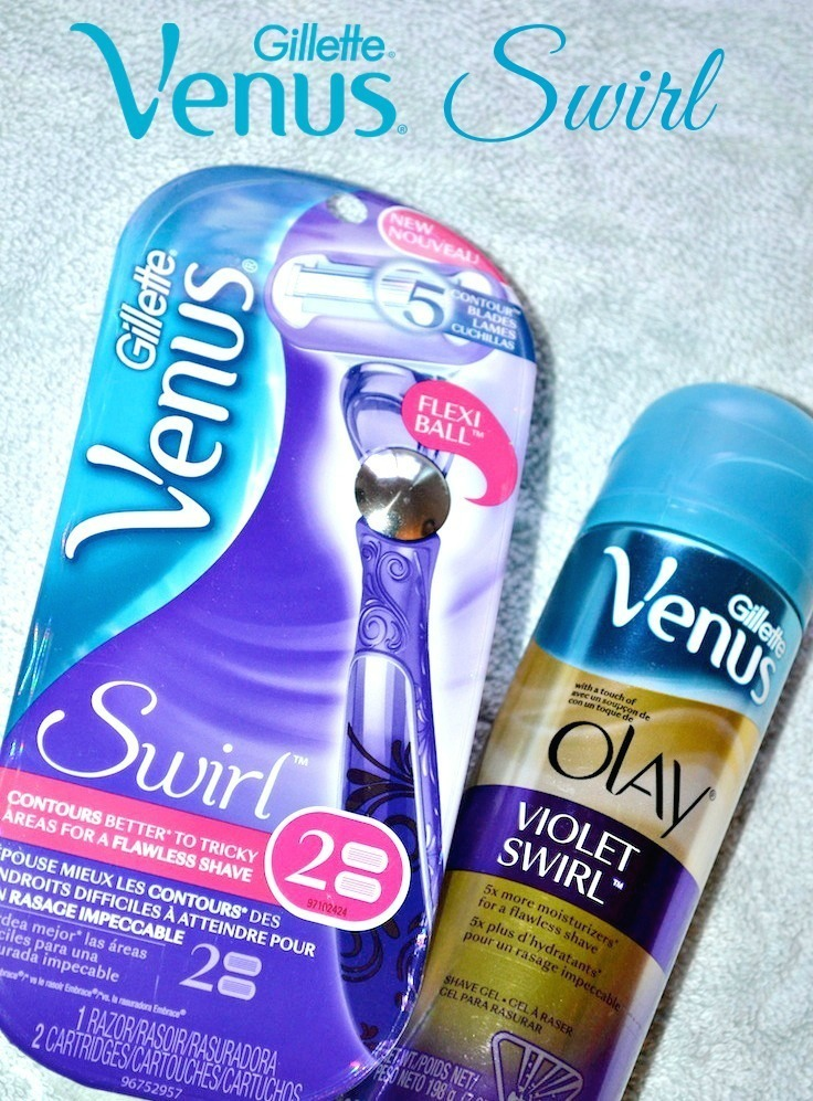 Gillette Venus Swirl Razor and Olay Swirl Shaving gel