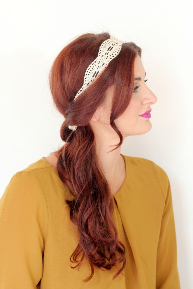 ways to wear headbands side pony