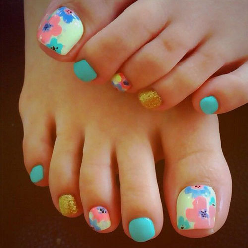 10 Spring Toe Nail Art Designs Ideas Trends Stickers 2015 9 10+ Spring Toe Nail Art Designs, Ideas, Trends & Stickers 2015