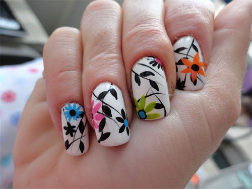 15 Spring Flower Nail Art Designs Ideas Trends Stickers 2015 14 15+ Spring Flower Nail Art Designs, Ideas, Trends & Stickers 2015
