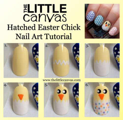 10 Step By Step Easter Nail Art Tutorials For Beginners Learners 2015 2 10 Step By Step Easter Nail Art Tutorials For Beginners & Learners 2015