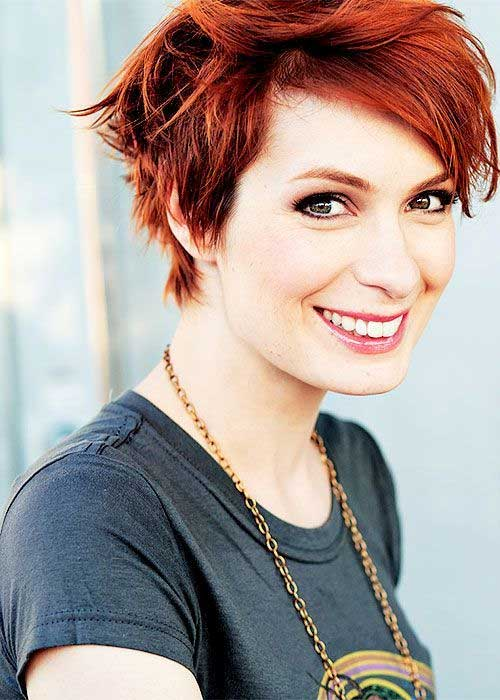 Short Red Pixie Hairstyles