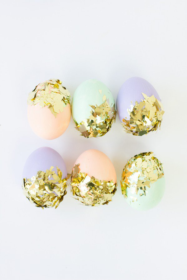 Easter Eggs with Sequins