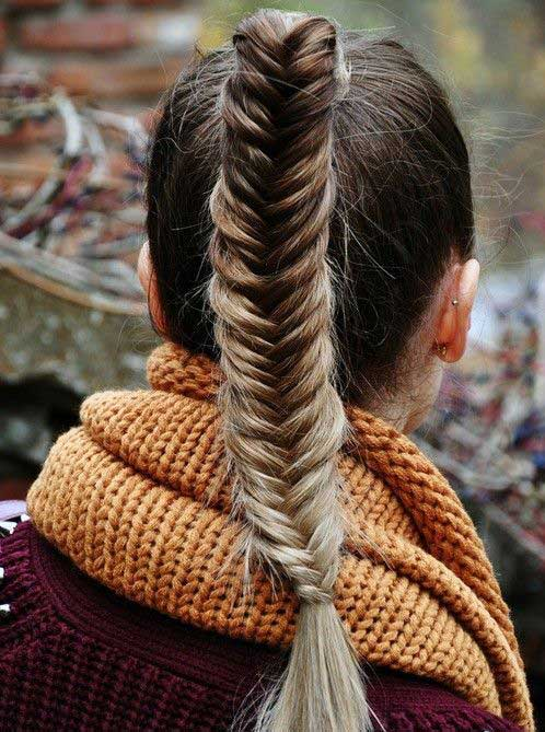 High Fishtail Ponytail