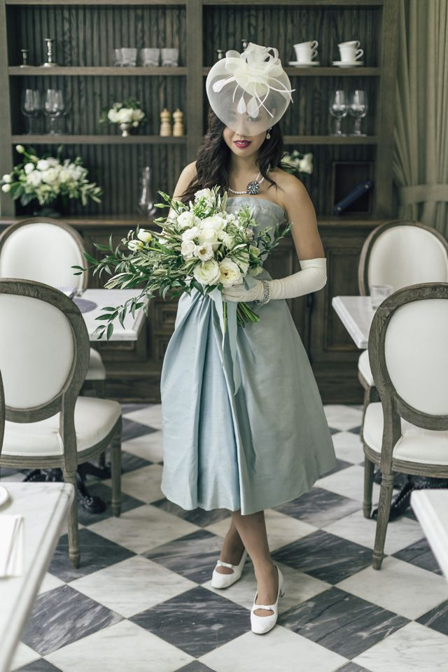 Vintage Dior dress | The Love Studio | see more on: http://burnettsboards.com/2015/03/vintage-dior-wedding-editorial/