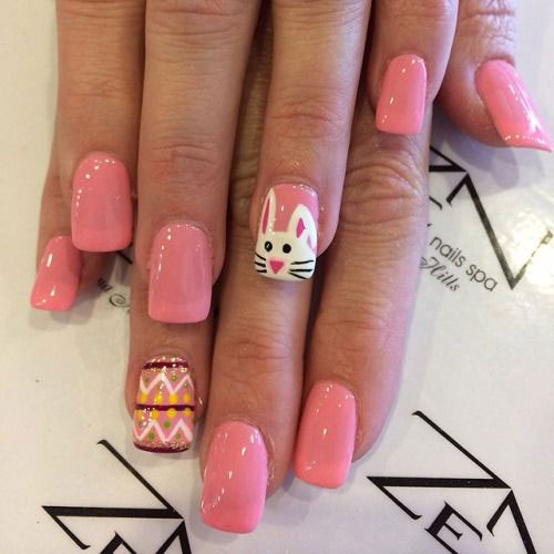 20 Simple Easy Cool Easter Nail Art Designs Ideas Trends Stickers 2015 4 20 Simple, Easy & Cool Easter Nail Art Designs, Ideas, Trends & Stickers 2015