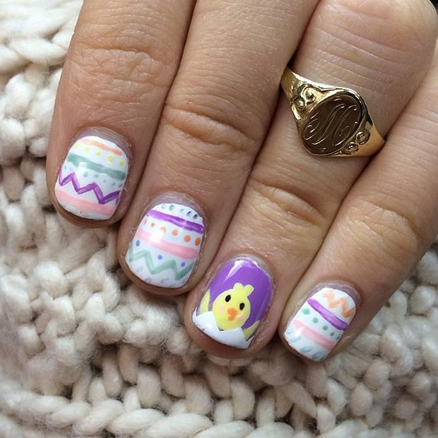 Chicken in the Egg Accent Nail