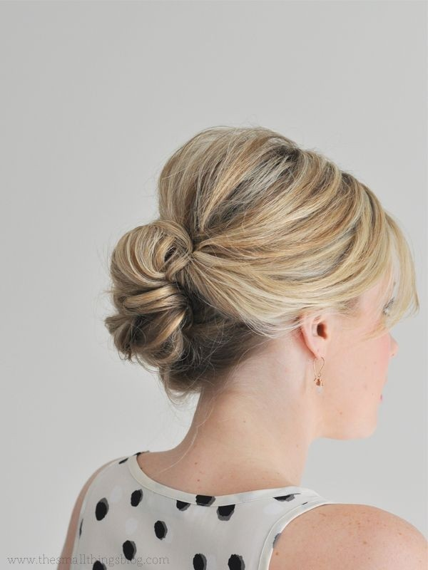 Easy Updo Hairstyle for Thin Hair