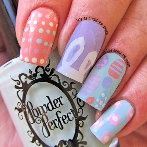 20 Simple Easy Cool Easter Nail Art Designs Ideas Trends Stickers 2015 7 20 Simple, Easy & Cool Easter Nail Art Designs, Ideas, Trends & Stickers 2015