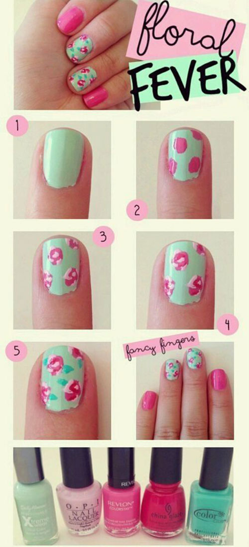Easy Step By Step Spring Nail Art Tutorials For Beginners Learners 2015 4 Easy Step By Step Spring Nail Art Tutorials For Beginners & Learners 2015