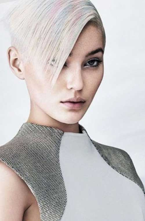 Sharp Short Futuristic Cut for Girls Hairstyle