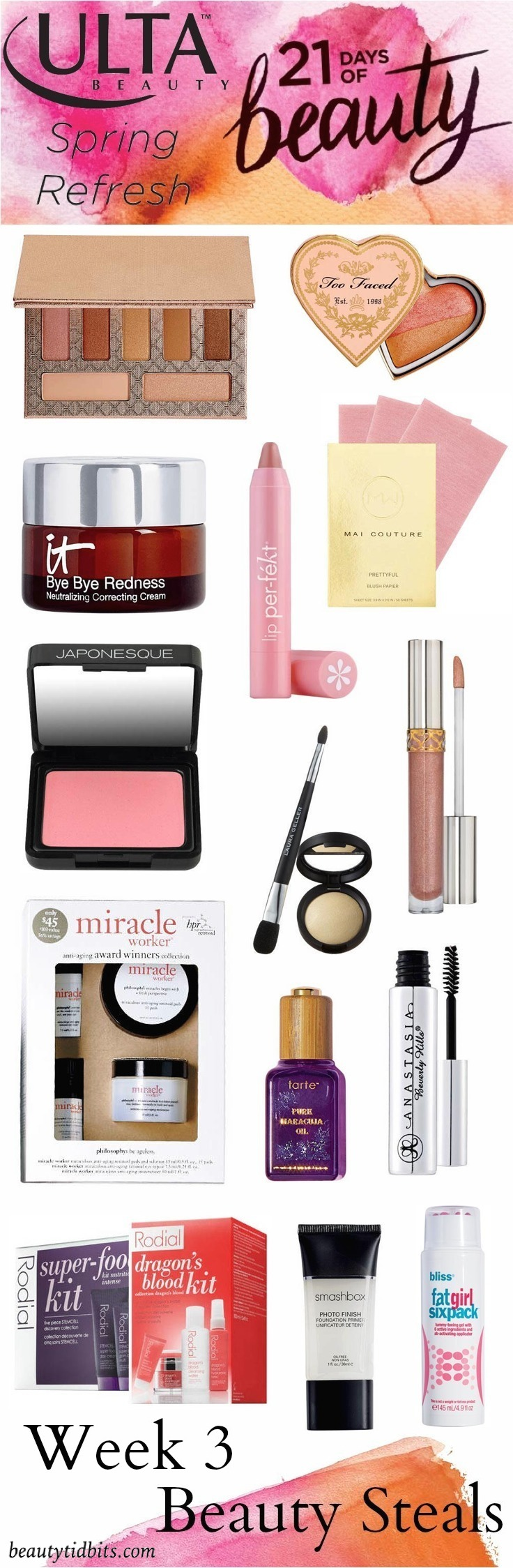 Ulta 21 days of Beauty - Week 3 Beauty Steals