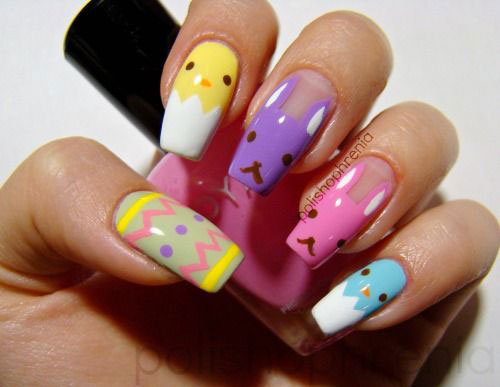 20 Easter Bunny Nail Art Designs Ideas Trends Stickers 2015 4 20 Easter Bunny Nail Art Designs, Ideas, Trends & Stickers 2015