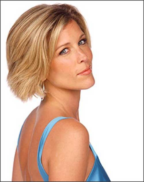 Laura Wright Casual Bob Haircuts