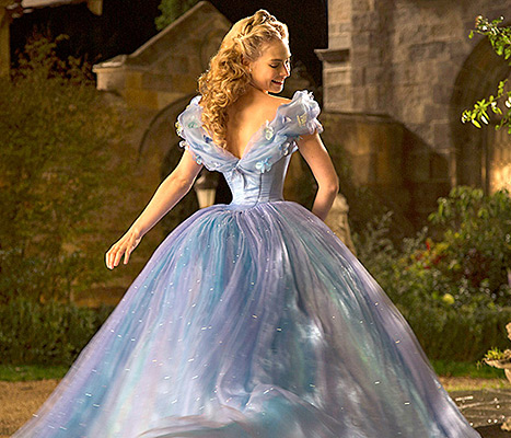 Lily James as Cinderella