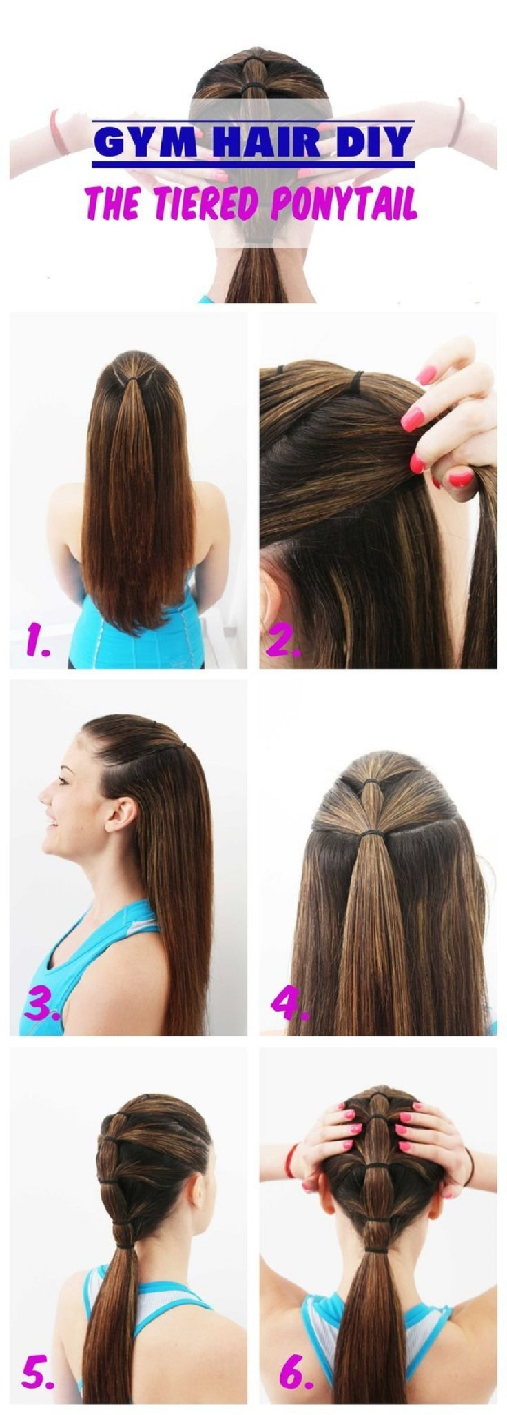 tiered-ponytail