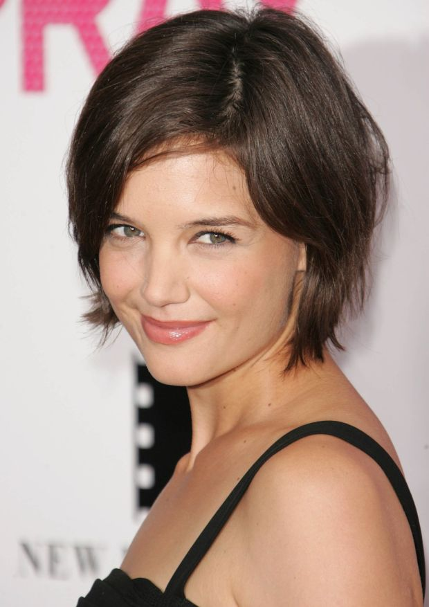 Katie Holmes at the 2007 premiere of 'Hairspray'.