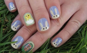 20 Easter Bunny Nail Art Designs, Ideas, Trends & Stickers 2015