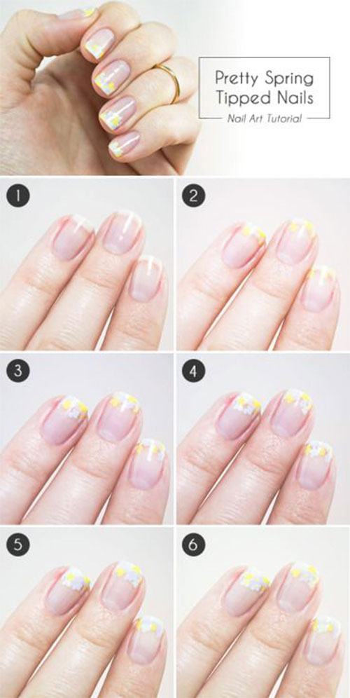 Easy Step By Step Spring Nail Art Tutorials For Beginners Learners 2015 2 Easy Step By Step Spring Nail Art Tutorials For Beginners & Learners 2015