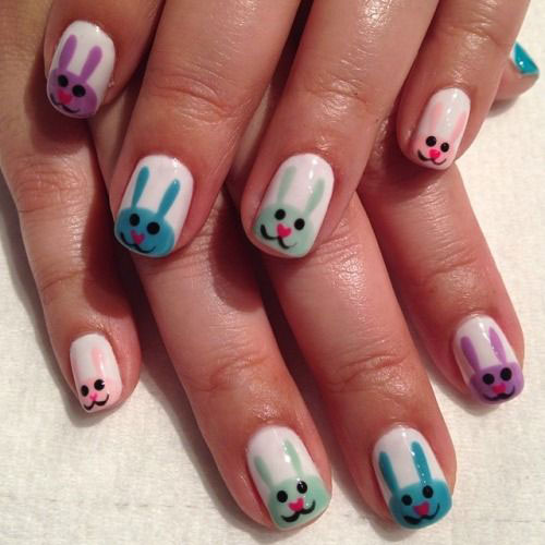 20 Easter Bunny Nail Art Designs Ideas Trends Stickers 2015 2 20 Easter Bunny Nail Art Designs, Ideas, Trends & Stickers 2015