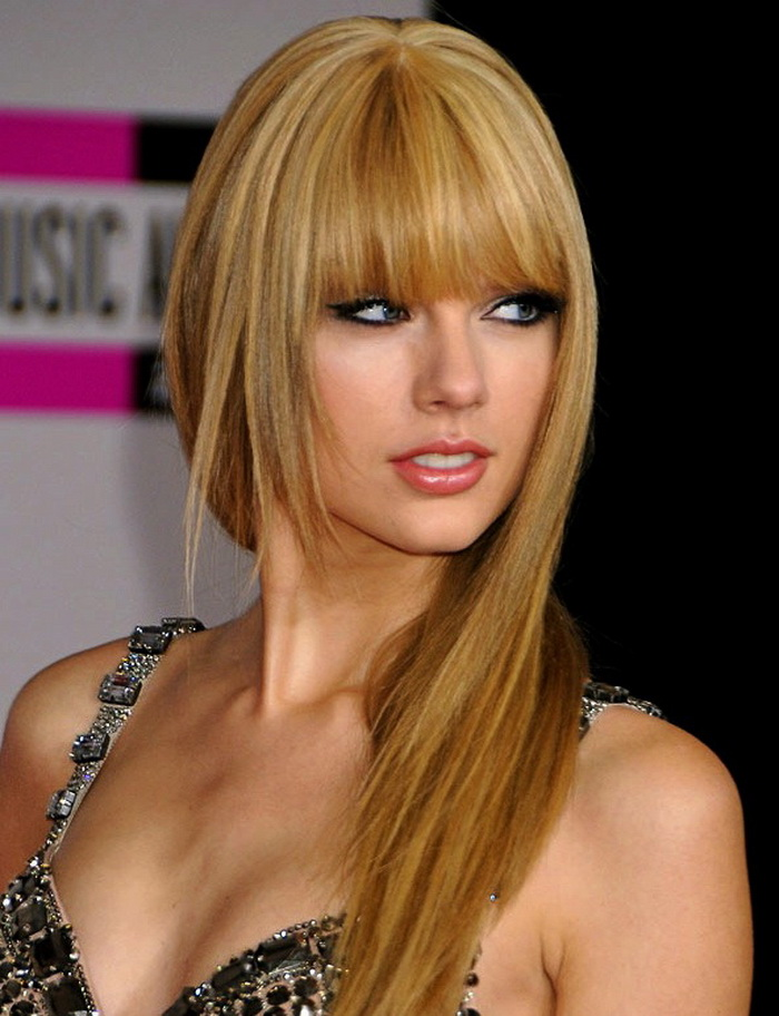 Straight Length Hairstyles with Bang 2015