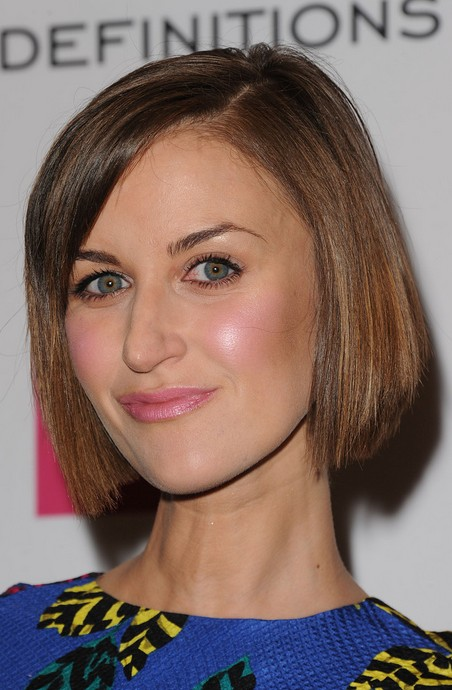 Katherine Kelly Short Haircut for 2014 - Classic Straight Bob Hairstyle