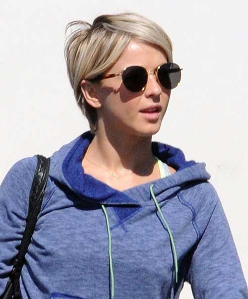 Julianne Hough Fine Pixie Hair