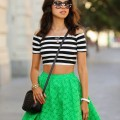 bright green skirt