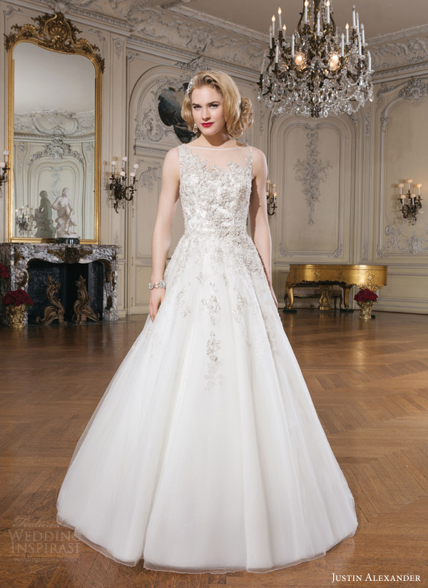 justin alexander bridal 2015 sleeveless wedding dress 8726 gold coffee ball gown