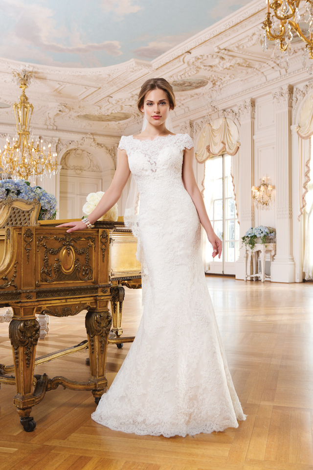 Lace wedding dress from Lillian West
