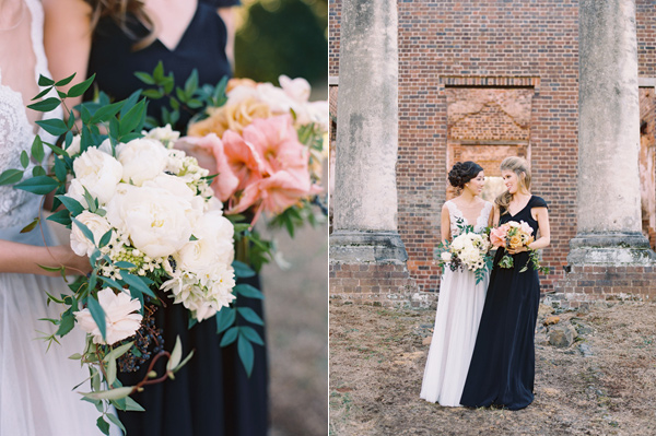 bridesmaid bouquets - photo by Adam Barnes http://ruffledblog.com/organic-greenhouse-wedding-inspiration