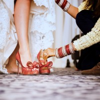 Red Lace Wedding Shoes