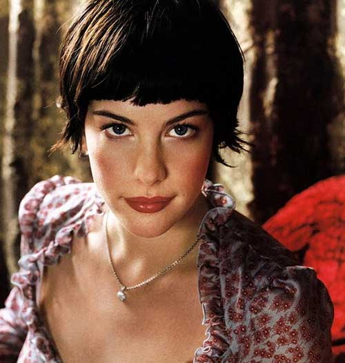Liv Tyler Hair with Thick Bangs