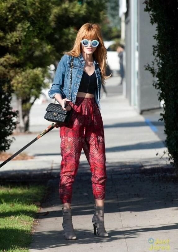 bella thorne printed pants Teen Fashion Icons Everyone Is Watching