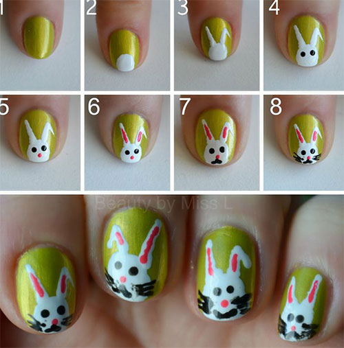 10 Step By Step Easter Nail Art Tutorials For Beginners Learners 2015 3 10 Step By Step Easter Nail Art Tutorials For Beginners & Learners 2015