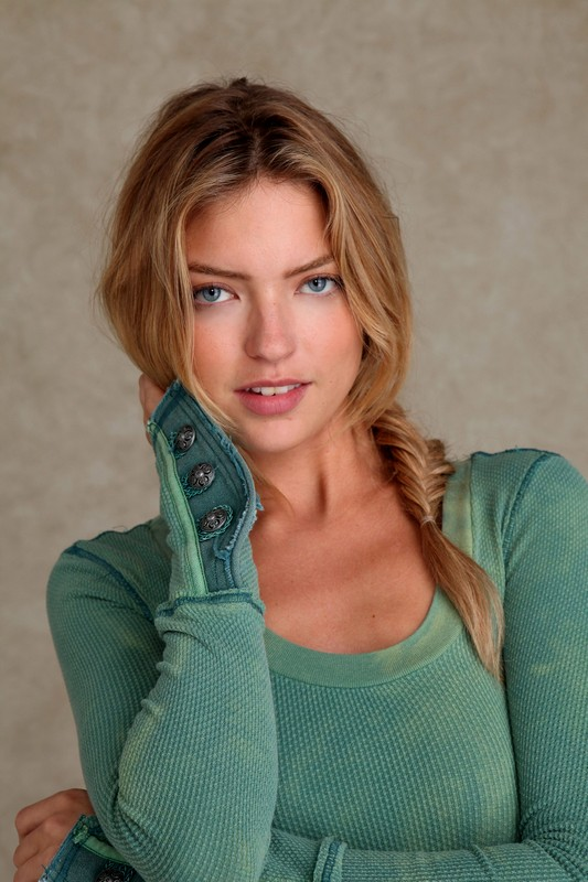 Martha Hunt Braided Hairstyles with Blonde Hair Color 2015