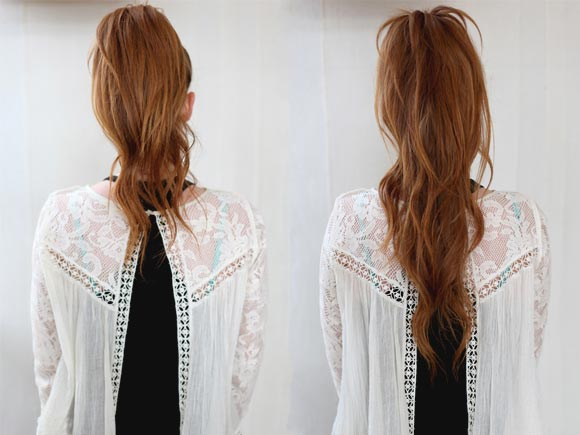 Longer Ponytail Trick