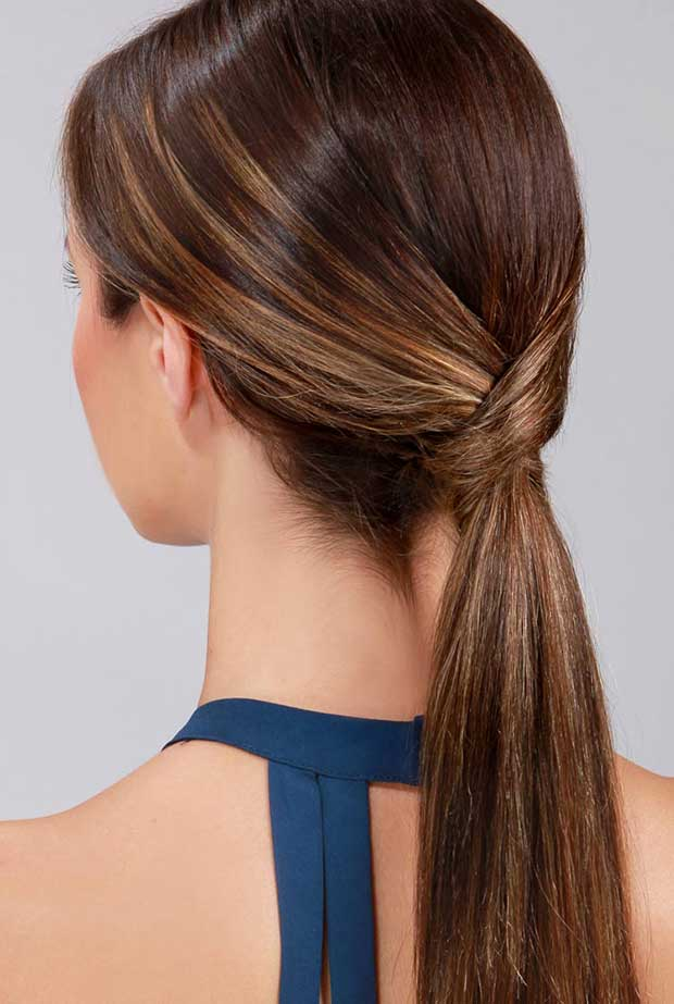 Simple Sleek Ponytail with Twist