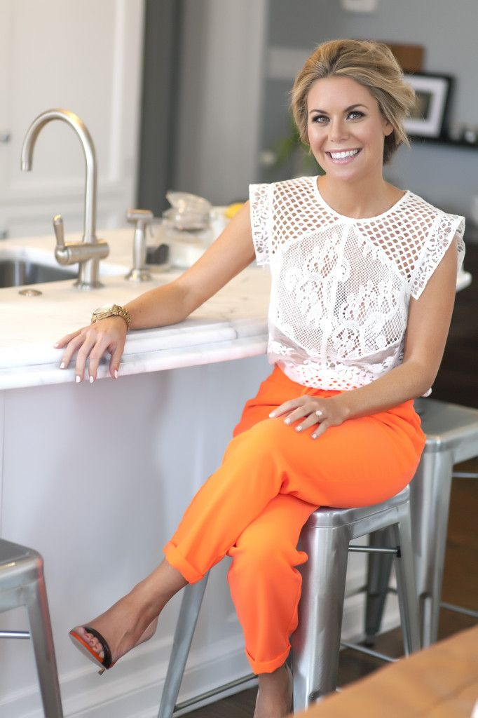 bright orange pants Gorgeous Colors You Need to Add to Your Closet Right Now