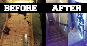 This Guy Transformed A Boring Basement Door Into Something Brilliant