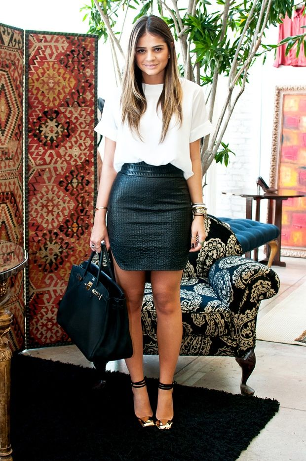 leather pencil skirt outfit How to Come Up With Your Own Unique Style