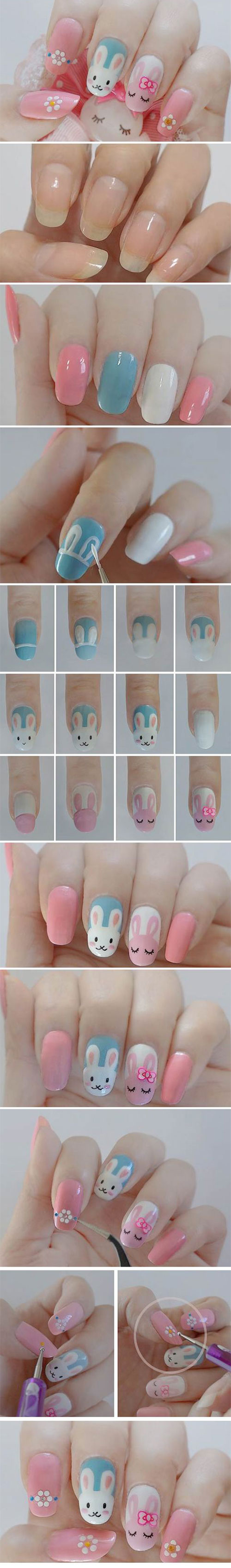 10 Step By Step Easter Nail Art Tutorials For Beginners Learners 2015 9 10 Step By Step Easter Nail Art Tutorials For Beginners & Learners 2015