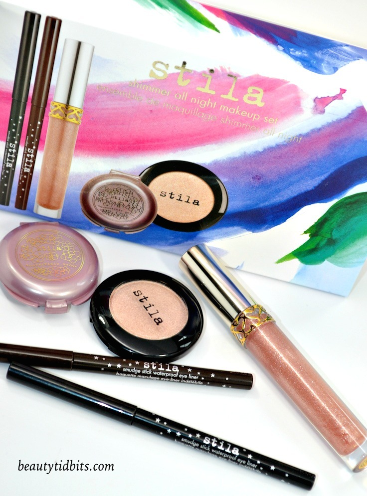 With 5 best-selling makeup must-haves from Stila cosmetics, the Shimmer All Night Makeup Set is a fantastic beauty bargain for only $  38! (ULTA Exclusive)