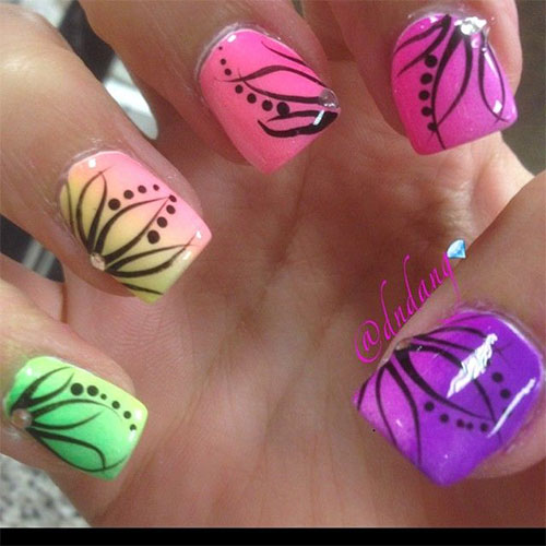 15 Spring Flower Nail Art Designs Ideas Trends Stickers 2015 12 15+ Spring Flower Nail Art Designs, Ideas, Trends & Stickers 2015