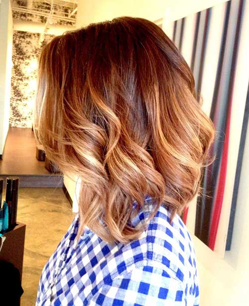 Ombre Short Hairstyles For Thick Wavy Hair