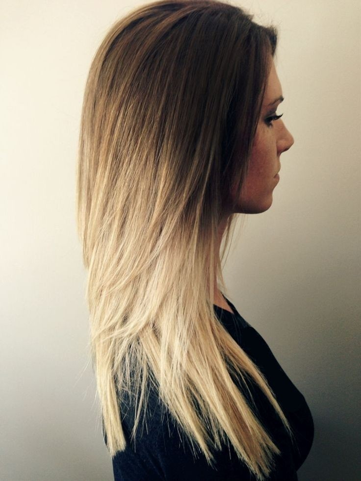 Long Straight Hairstyle for Blond Hair