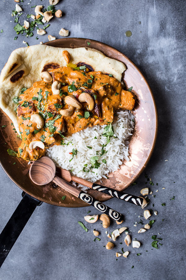 Creamy Cashew Indian Butter Paneer with Fried Paneer