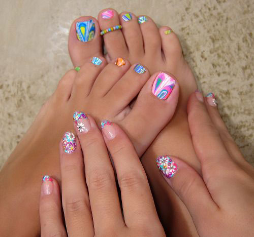 10 Spring Toe Nail Art Designs Ideas Trends Stickers 2015 6 10+ Spring Toe Nail Art Designs, Ideas, Trends & Stickers 2015